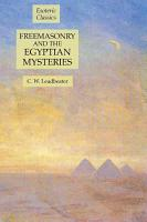 Freemasonry and the Egyptian Mysteries  Esoteric Classics PDF