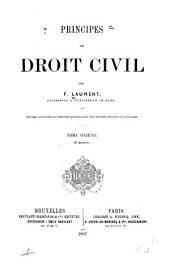 Principes de droit civil français: Volume6