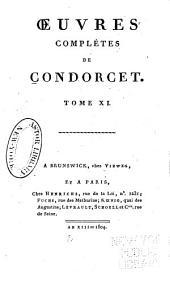 Oeuvres complètes de Condorcet: Volume11