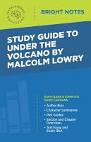 Study Guide to Under the Volcano by Malcolm Lowry PDF