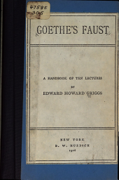 Goethe's Faust: A Handbook of Ten Lectures