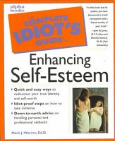 The Complete Idiot s Guide to Enhancing Self esteem PDF