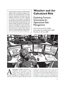 Weather and the Calculated Risk