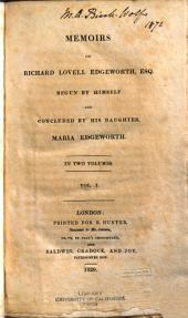 Memoirs of Richard Lovell Edgeworth, Esq: Volume 1
