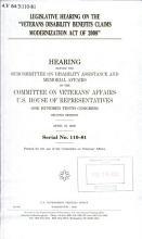 Legislative Hearing on the Veterans Disability Benefits Claims Modernization Act of 2008 PDF