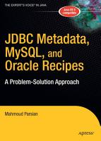 JDBC Metadata  MySQL  and Oracle Recipes PDF