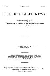 Public Health News: Volumes 1-2