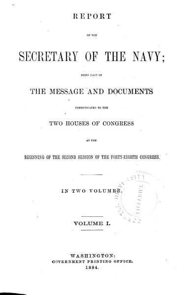 Download Annual Report of the Secretary of the Navy Book