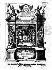 Veridicus Christianus : Auctore P. Ioanne David, Sacerdote Societatis Iesu [ejusdem ep. ded. Petro Simons, cujus ep. responsiva]