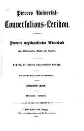 Pierers Universal-Conversations-Lexikon: Neuestes encycklopädisches Wörterbuch aller Wisssenschaften, Künste und Gewerbe, Band 13