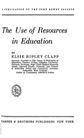 The Use of Resources in Education PDF