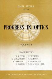 Progress in Optics: Volume 1