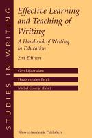 Effective Learning and Teaching of Writing PDF