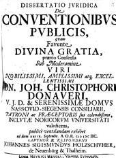 Diss. iur. de conventionibus publicis