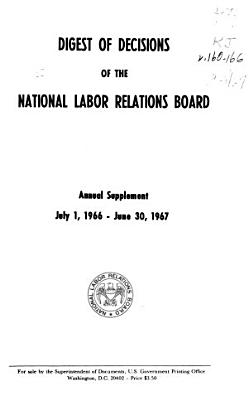 Digest of Decisions of the National Labor Relations Board