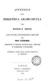 Biblioteca arabo-sicula, messe insieme da M. Amari. [With] Appendice [and] Seconda appendice