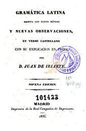 Gramática latina: escrita con nuevo método y nuevas observaciones
