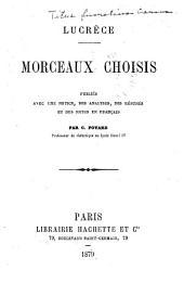 Morceaux choisis: pub. avec une notice, des analyses, des résumés et des notes en français