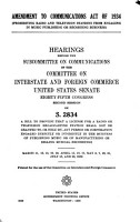 Amendment to Communications Act of 1934  Prohibiting Radio and Television Stations from Engaging in Music Publishing Or Recording Business  PDF