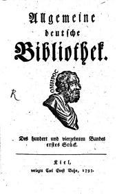 Allgemeine deutsche Bibliothek: Band 114