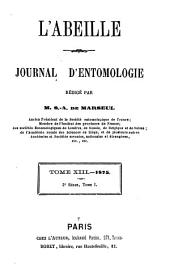 L'Abeille: journal d'entomologie, Volume 13