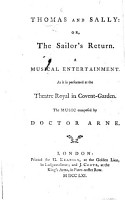 Thomas and Sally  or  The sailor s return  etc   By Isaac Bickerstaffe   PDF