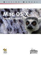 Mac OS X  Snow Leopard  Missing manual PDF