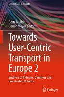 Towards User Centric Transport in Europe 2 PDF