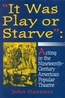 It was Play Or Starve  PDF
