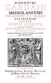 Astronomica, astrologica, onirocritica