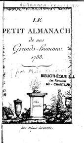 Le petit almanach de nos grands hommes, 1788