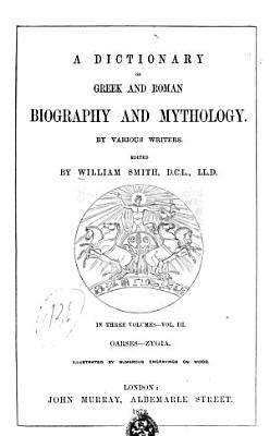 Dictionary of Greek and Roman Biography and Mythology by Various Writers PDF