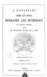 Dictionary Of Greek And Roman Biography And Mythology By Various Writers Book PDF