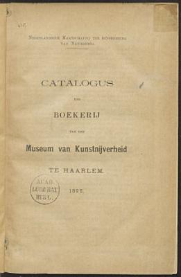 Catalogus der boekerij van het Museum van Kunstnijverheid te Haarlem PDF