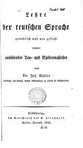 Lehre der teutschen Sprache