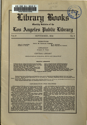 Library Books: Monthly Bulletin of the Los Angeles Public Library, Volume 9, Issue 9