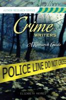 Crime Writers  A Research Guide PDF