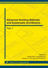 Advanced Building Materials and Sustainable Architecture PDF
