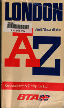 London street atlas and index, A-Z.