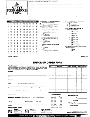 School Food Service Journal PDF