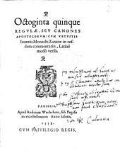 Octoginta quinque Regulae seu Canones Apostolorum