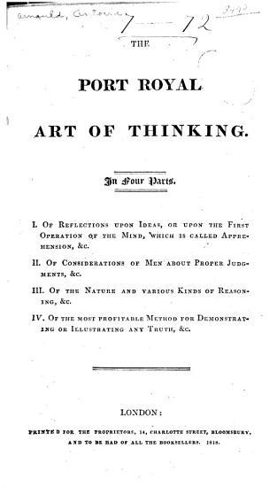 The Port Royal Art of Thinking PDF