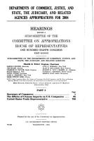 Departments of Commerce  Justice  and State  the Judiciary  and Related Agencies Appropriations for 2005  Secretary of Commerce  Patent and Trademark Office PDF