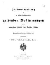 Statistik des Deutschen Reichs: Band 1