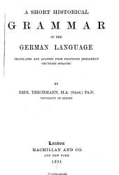 A Short Historical Grammar of the German Language