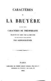 Caractères de La Bruyère: suivis des Caractères de Théophraste