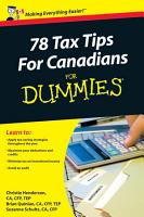 78 Tax Tips For Canadians For Dummies PDF