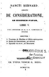 De Consideratione ad Eugenium Papam Libri V