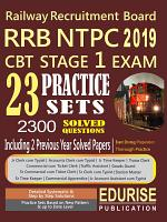 Railway Recruitment Board RRB NTPC 2019 CBT Stage 1 Exam 23 Practice Sets 2300 Solved Questions 2 Previous Year Solved Papers