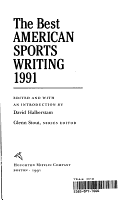 The Best American Sports Writing 1991 PDF